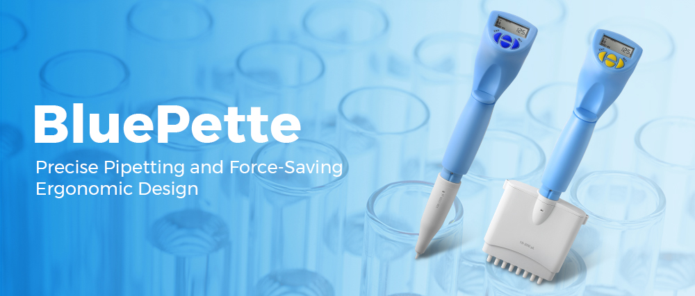 BluePette_electronic pipette_Blue-Ray Biotech